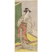Katsukawa Shunjô: Actor Segawa Kikunojô III as a courtesan in summer attire - ボストン美術館
