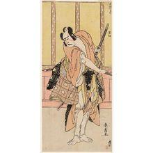 Katsukawa Shunsen: Actor Ichikawa Yaozô III as Sato Tadanobu - Museum of Fine Arts
