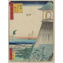 Utagawa Kunikazu: Sumiyoshi Lighthouse (Sumiyoshi Taka-tôrô), from the series One Hundred Views of Osaka (Naniwa hyakkei) - Museum of Fine Arts