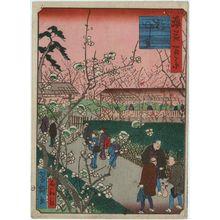 歌川芳滝: Flowering Plum Garden (Ume-yashiki), from the series One Hundred Views of Osaka (Naniwa hyakkei) - ボストン美術館