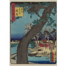 Nansuitei Yoshiyuki: Inari Shrine at Star Pond in Hirota (Hirota Hoshi-ga-ike Inari), from the series One Hundred Views of Osaka (Naniwa hyakkei) - ボストン美術館