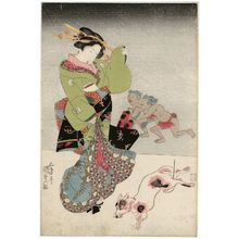 Utagawa Kunisada: Street Scene at Night - Museum of Fine Arts