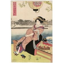 Utagawa Kunisada: Mukôjima tsukimi - Museum of Fine Arts