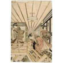 歌川国貞: Triptych View in the New Yoshiwara (Shin Yoshiwara sanmaitsuzuki zu) - ボストン美術館