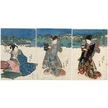 Utagawa Kunisada: Tôto Toranomon no zu - Museum of Fine Arts