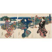 Utagawa Kunisada: Distant View of Ôji (Ôji enmi no zu) - Museum of Fine Arts
