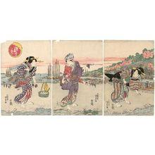 Utagawa Kunisada: Scene at Low Tide (Shiohi kei) - Museum of Fine Arts
