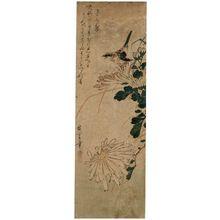 Utagawa Hiroshige: Bird and Chrysanthemums - Museum of Fine Arts