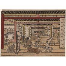 Furuyama Moromasa: A Game of Ken in a Parlor in the New Yoshiwara - Museum of Fine Arts