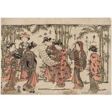 Ishikawa Toyonobu: The Seven Women of the Bamboo Grove - Museum of Fine Arts