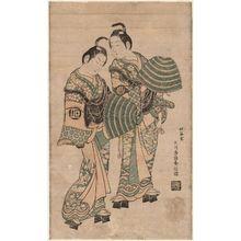 Ishikawa Toyonobu: Actors Onoe Kikugorô I and Sanogawa Ichimatsu I Dressed as Komusô - Museum of Fine Arts