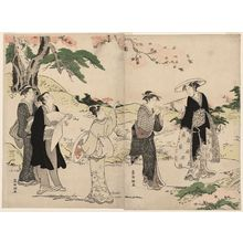 Kubo Shunman: Viewing Cherry Blossoms - Museum of Fine Arts