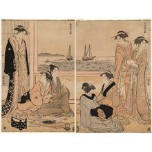 鳥居清長: The Fourth Month, from the series Twelve Months in the South (Minami jûni kô) - ボストン美術館