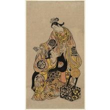 鳥居清信: Two Actors Seated and Another Standing - ボストン美術館