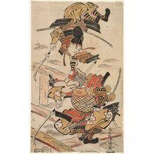 Torii Kiyomasu I: Tsutsui Jômyô and Ichirai Hôshi on Uji Bridge - Museum of Fine Arts