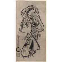 Kaigetsudô Dohan: Courtesan Adjusting her Comb - Museum of Fine Arts