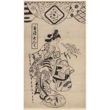 鳥居清信: Actor Tanijima Mondo - ボストン美術館