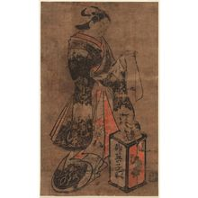 Torii Kiyomasu I: Standing Beauty with a Cat and Kitten - Museum of Fine Arts