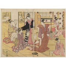 Chokosai Eisho: The Setsubun Ceremony (Exorcising Demons from the House By Throwing Beans at Them) - Museum of Fine Arts