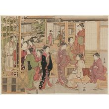 Katsukawa Shuncho: Parody of the Wakana no Jô Chapter of the Tale of Genji - Museum of Fine Arts