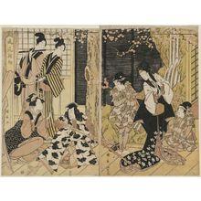 Utagawa Kuninaga: Fashionable First Dance of the Year (Fûryû odori hajime) - Museum of Fine Arts