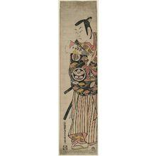 Torii Kiyomasu II: Actor Ichimura Kamezô as Nagoya Sanza - Museum of Fine Arts