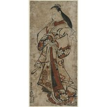 Torii Kiyomasu I: Standing Courtesan - Museum of Fine Arts