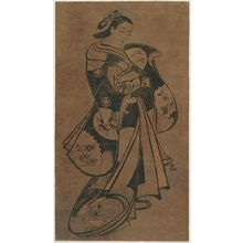Torii Kiyonobu I: Standing Courtesan - Museum of Fine Arts