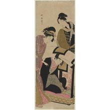 Banki Harumasa: Young Woman Asleep in Kago - Museum of Fine Arts