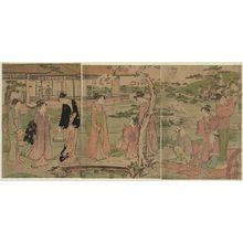 鳥居清長: Picnic in a Daimyô's Garden - ボストン美術館