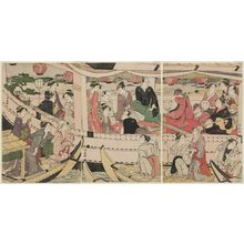 Torii Kiyonaga: Three Actors at a Boating Party on the Sumida River - Museum of Fine Arts