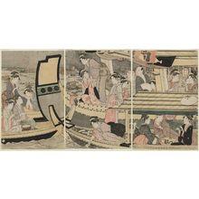 Eishosai Choki: Summer Boating Parties at Ryôgoku Bridge - Museum of Fine Arts