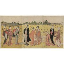 細田栄之: Sanmaibashi in Ueno - ボストン美術館
