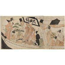 Hosoda Eishi: Party on the Daifuku Pleasure Boat - Museum of Fine Arts