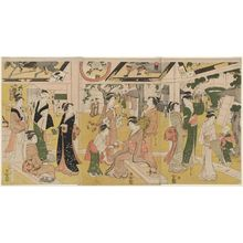 Hosoda Eishi: Women Resting in the Votive Picture Hall at Asakusa - Museum of Fine Arts