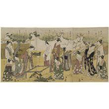 細田栄之: Parody of the Tsutsu Izutsu Story from the Tales of Ise (Ise monogatari) - ボストン美術館