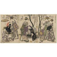 喜多川歌麿: Complete Illustrations of Yoshiwara Parodies of Kabuki, a Set of Ten (Seirô kabuki yatsushi ezukushi, jûban tsuzuki) - ボストン美術館