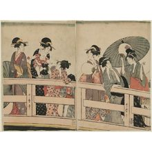 Kitagawa Utamaro: On Top of and beneath Ryôgoku Bridge - Museum of Fine Arts