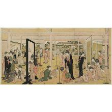 喜多川歌麿: Santô Kyôden at a Daimyo's Mansion - ボストン美術館