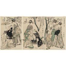 Kitagawa Utamaro: Complete Illustrations of Yoshiwara Parodies of Kabuki, a Set of Ten (Seirô kabuki yatsushi ezukushi, jûban tsuzuki) - Museum of Fine Arts