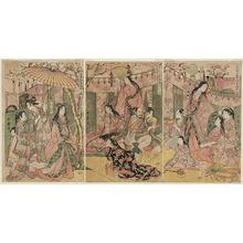 Kitagawa Utamaro: The Taikô and His Five Wives on an Excursion to the East of Kyoto (Taikô gosai Rakutô yûkan no zu) - Museum of Fine Arts