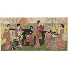 Kitagawa Utamaro: Cherry-blossom Viewing at Goten-yama - Museum of Fine Arts