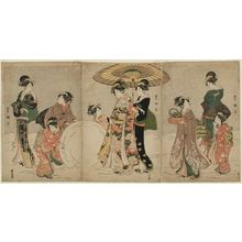 Utagawa Toyokuni I: Women Making a Giant Snowball - Museum of Fine Arts