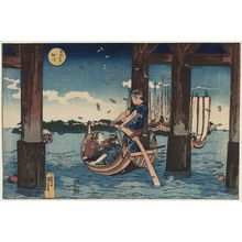 Utagawa Kuniyoshi: Tsukuda Island (Tsukudajima), from the series Famous Places in the Eastern Capital (Tôto meisho) - Museum of Fine Arts