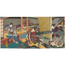 Utagawa Kuniteru: Flowers (Hana), from the series Snow, Moon and Flowers (Setsugekka no uchi) - Museum of Fine Arts