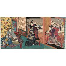 歌川国輝: Snow (Yuki), from the series Snow, Moon and Flowers (Setsugekka no uchi) - ボストン美術館