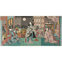 Utagawa Kuniteru: Moon (Tsuki), from the series Snow, Moon and Flowers (Setsugekka no uchi) - Museum of Fine Arts