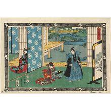 二歌川広重: Act II (Nidanme), from the series The Storehouse of Loyal Retainers (Chûshingura) - ボストン美術館