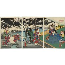 Utagawa Fusatane: Winter (Fuyu), from the series Four Seasons of Genji (Genji shiki no uchi) - Museum of Fine Arts