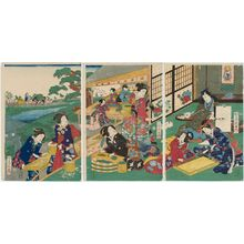 Utagawa Fusatane: Silkworm Cultivation - Museum of Fine Arts